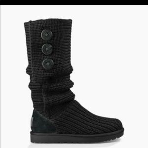 UGG black classic Cady knit boots size 8